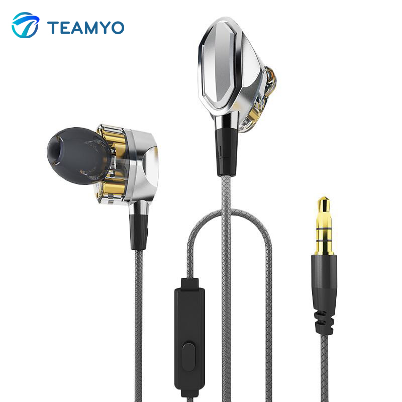 Teamyo Noise Cancelling HiFi Bluetooth Earphone Gaming Sport Headset In-ear Super Bass Earphones Metal Magnetic Stereo Earbuds super bass earphone hifi stereo sound 3 5mm earbuds in ear earphones with mic sport running headset for phone
