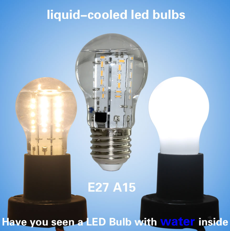 New High Quality No Flickering E27 Liquid Cooled Led Light Bulbs A15 6w 8w 120lm W Ac110v 220v