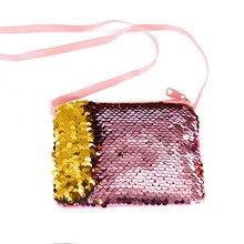 Купить с кэшбэком Women Coin Purse Sequines Pocket Fashion Dollar Purse Mini Women Wallets Square Earphone Bag Key Bag Cute Kids Zipper Purse Bags