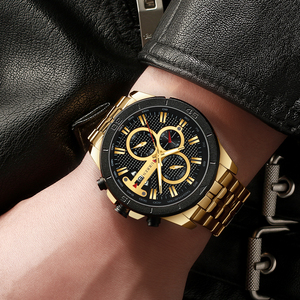 Image 3 - New Luxury Brand CURREN Quartz Watches Sporty Men Wristwatch with Stainless Steel Clock Male Casual Chronograph Watch Relojes