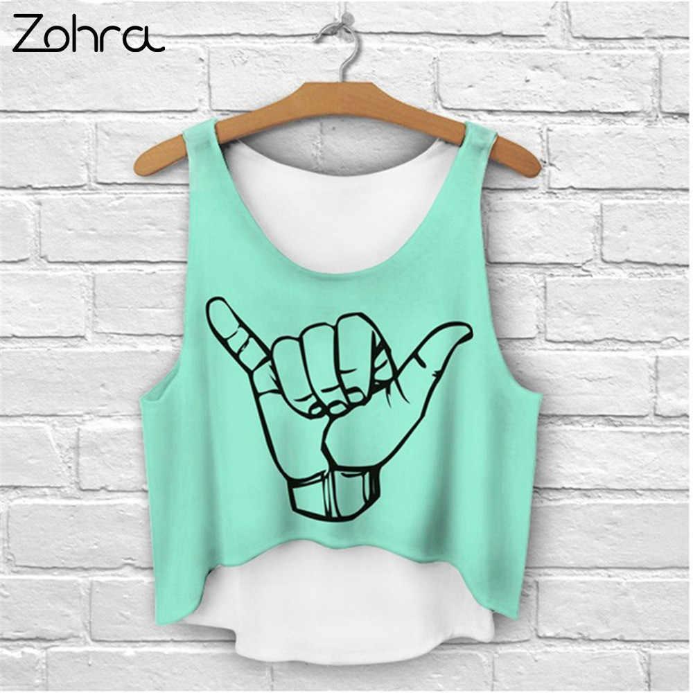 0df0e7c2486af0 Zohra Multi Colors T-Shirts 3D Print Women Tank Tops Camis Print Camisoles    Tanks