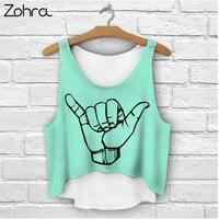 Zohra 2016 Multi Colors T Shirts 3D Print Women Tank Tops Camis Print Camisoles Tanks Girls