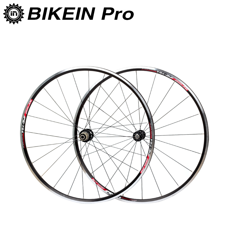 все цены на BIKEIN Ultralight 700C Road Bike Front 2 Rear 4 Bearing Aluminum Wheels 9/10/11 Speed Rim Wheelset Cycling Bicycle Parts 1800g