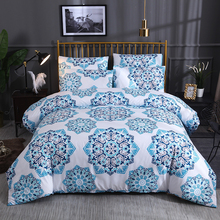 3pcs Bohemia Linens Duvet Cover Set Jogo De Cama Bedding Sets Blue Snow Bed Sheet Pillowcase Roupa De Cama Home Textiles E promotion 7pcs cartoon washable baby bedding set bebe jogo de cama cot crib bedding set bumper duvet matress pillow