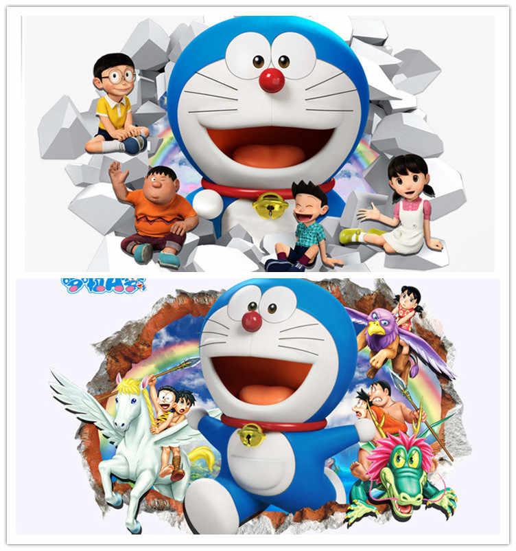 3d Doraemon Kartun Stiker Dinding Rumah Dekorasi Dinding Decals Untuk Kamar Anak Anak Hadiah Tk Vinyl Diy Wallpaper Dinding Stiker Decorative Wall Decal Wall Decalsdoraemon Wall Sticker Aliexpress
