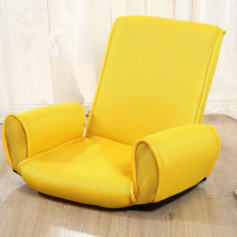 Japanese Fabric Armchair Design Floor Folding 5 Position Adjustable Living Room Furniture Chaise