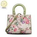 Pmsix Chinese Style Camellia Print Women PU Leather Handbags Ethnic Shoulder Bag Female Crossbody Bags Retro Tote Bag 108205