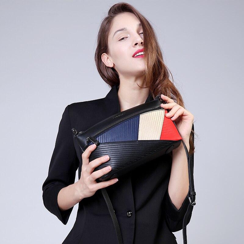 ФОТО ZOOLER 2016 Famous Brand women messenger bags luxury women bag designer patchwork 100% cowhide shoulder bag bolsa feminina#1356