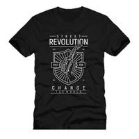 Hot 2017 Zomer Men'S T-shirt Fashion Street Revolutie Fire Bom Gang Fighters Mannen en Vrouw T-shirt Gratis Verzending
