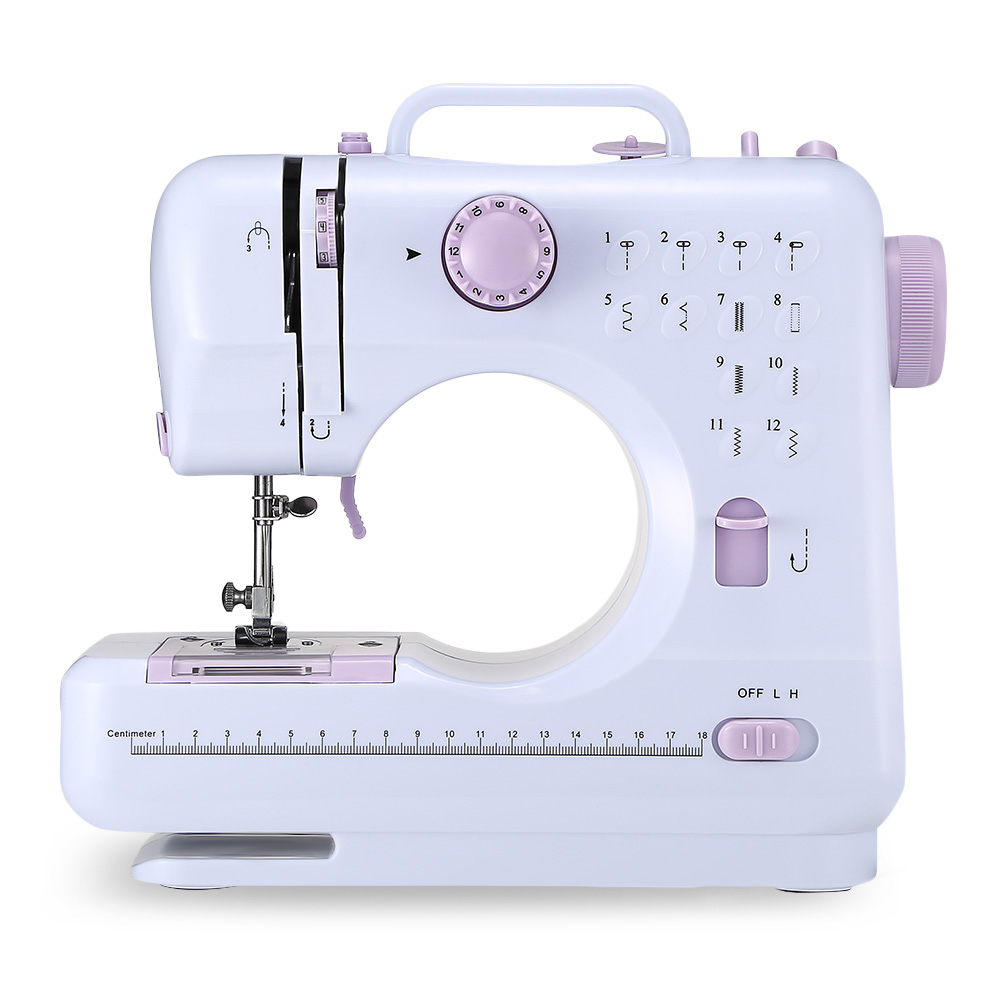 FHSM - 505 Mini Electric Sewing Machine Portable Multifunctional Household Sewing Machine With LED Light For Beginner Tailors image