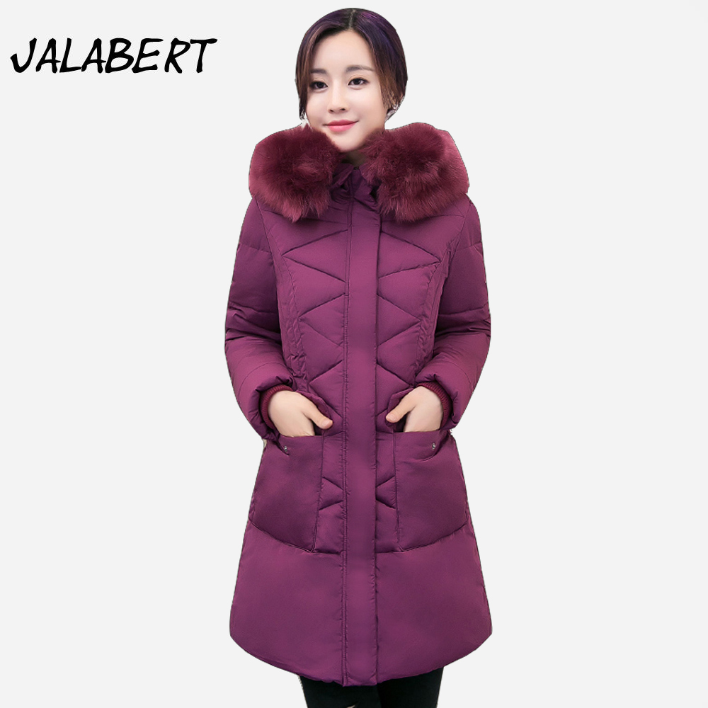2017 new winter long Slim cotton warm jacket women's large pocket coat Female fashion Hooded Fur collar Solid Parkas 2017 limited full zipper solid winter new cotton jacket women slim hooded large fur collar female fashion warm parkas overdress