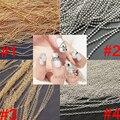 Envío gratuito 5 metros de perlas de uñas cadena, 3D nail art decoration, oro y plata colores