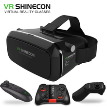 VR Shinecon Virtual Reality  3D Glasses For 4.0-6.0 Inch Iphone Android smartphone Full package Wireless Bluetooth Gamepad