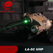 Latets Production Element Airsoft Flashlight LA-5C PEQ UHP Appearance Ver Green Laser and IR light  EX 419 element peq 15 la 5c uhp appearance red