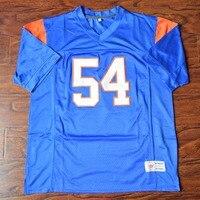 MM MASMIG Thad Burg #54 Blue Mountain State Fußball Jersey Genäht Blau S M L XL XXL XXXL 4XL