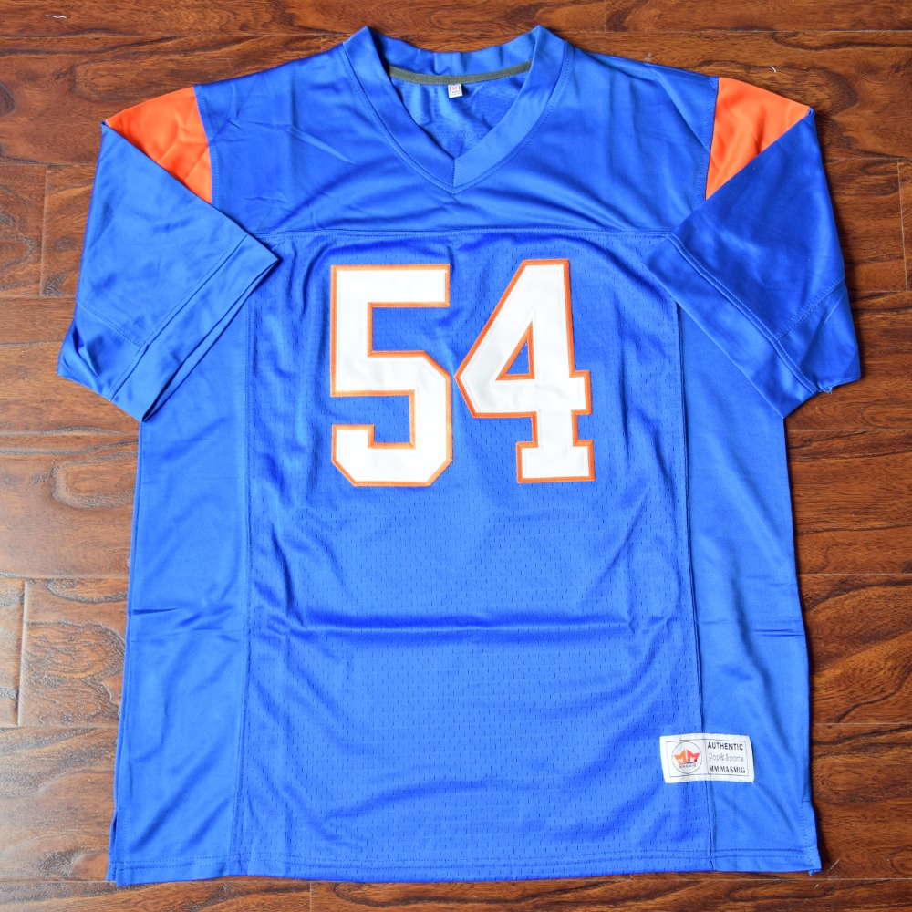 MM MASMIG Thad Castle #54 Blue Mountain State Football Jersey Stitched Blue S M L XL XXL XXXL 4XL женское платье other fahion 2015 s m l xl xxl xxxl 4xl