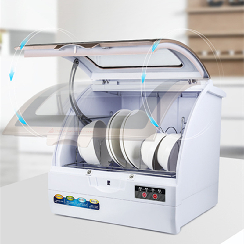 Automatic Dish Washer Machine For One Family 360C Wash 8 Holes Spray Dishwasher  Drip Washing Type  Front Open Dropshipping