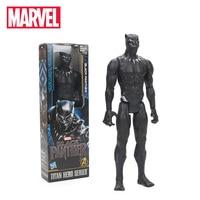 30 cm Pantera Negra PVC Titan Série Herói Marvel Action Figure Toys the Avengers Figuras Super Herói Coleção de Bonecas Modelo brinquedo