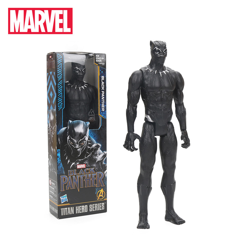 30cm Black Panther PVC Action Figure Titan Hero Series Marvel Toys the Avengers Figures Super Hero Collection Model Dolls Toy marvel hero series avengers superheroes pvc action figures toys spiderman ironman superman batman thor collection model toys