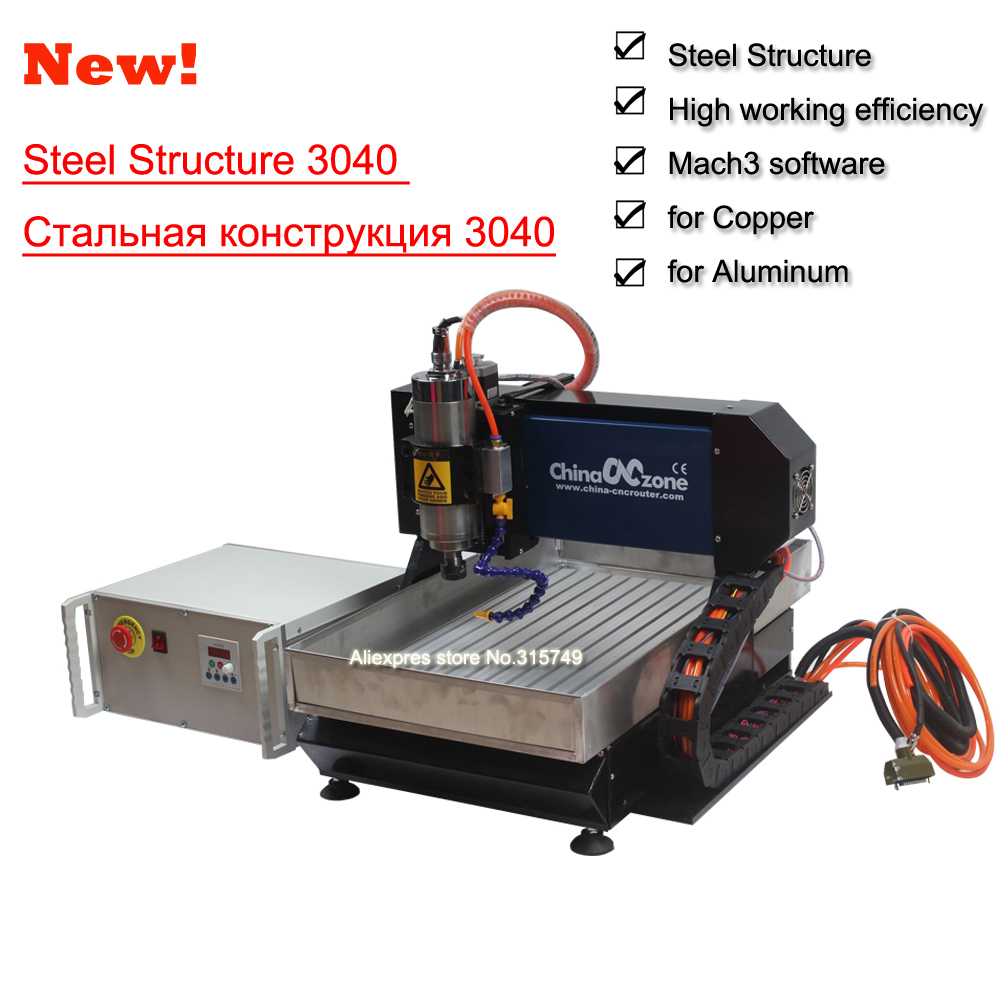 Mini CNC Metal Engraving machine 3040 for steel copper aluminum 3-axis 2200W water cooling spindle mini desktop stone cnc router cnc 3040 cnc router cnc machine 3 4 5 axis mini engraving machine woodworking tools diy hy 3040 high quality metal acrylic