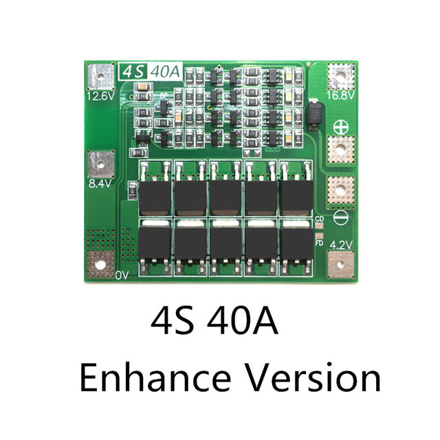 4S 40A Li-ion Lithium Battery Protection Board 18650 Charger PCB BMS For Drill Motor 14.8V 16.8V Enhance/Balance 2