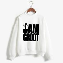 Women T-shirt Cartoon Baby Pop Groot Printed Shirts Funny I AM GROOT Fashion Tshirt Vogue T Shirt Sweatshirts Plus Size Tops Tee