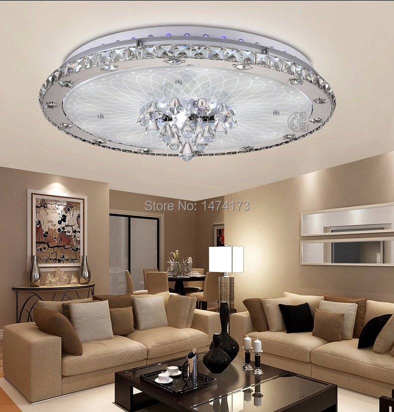 2014 Multi Color Effect Led Crystal Ceiling Lights For Living Room Modern New Luxury Design