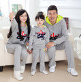 1pc Retail Family Hoodies Outfits Fashion Mother Father Son Daughter Print Hooded Sweatshirt+ Pant 2pcs Matching Clothing Set