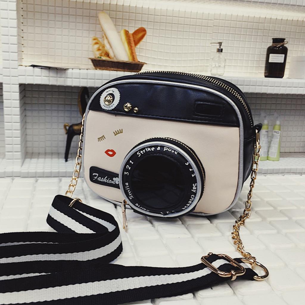 Crossbody  Handbags Casual Female Bags Women's Bags Wild Summer Shoulder Messenger Bag Camera Shape Design Pouch Bolsos