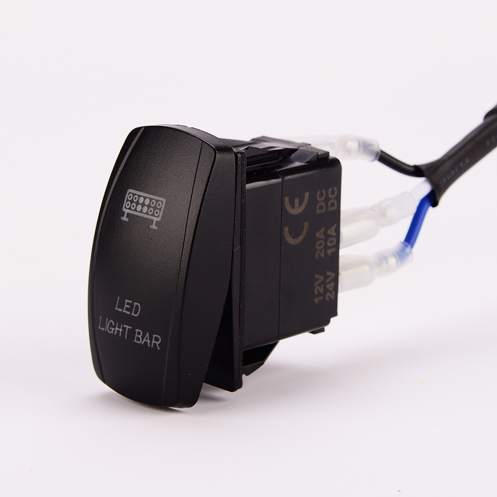 hight resolution of led light bar wiring harness 40 amp relay on off laser rocker switch blue 1lead