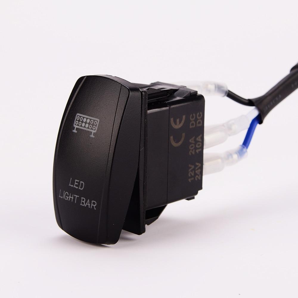 medium resolution of led light bar wiring harness 40 amp relay on off laser rocker switch blue 1lead