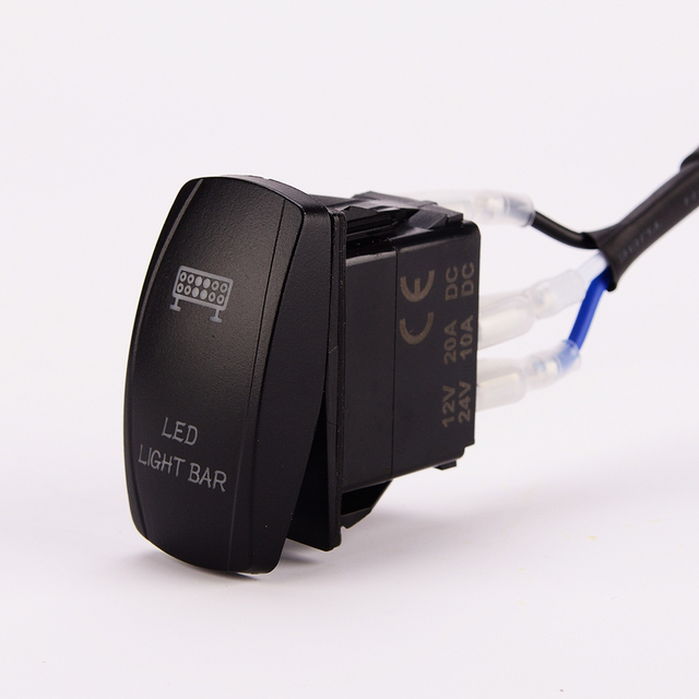 Led Light Bar Wiring Harness 40 Amp Relay On Off Laser Rocker Switch Blue 1lead 10ft 14awg  For