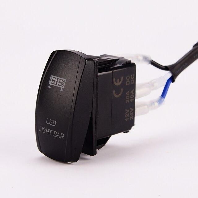 led light bar wiring harness 40 amp relay on off laser. Black Bedroom Furniture Sets. Home Design Ideas