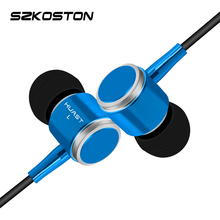 KST Wired Small Earphone With Metal Earbuds + 1.2m Long Earphones Wire 3D Stereo Sound For All Phones xiaomi iphone Samsung PC