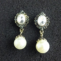 Fashion Statement Luxury Glass pearl Earrings Designs For Women Party