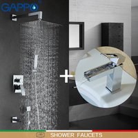GAPPO Shower Faucets shower mixer bathtub faucet waterfall basin mixer water sink tap torneira do chuveiro