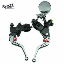 7/8″ 125CC – 600CC For Suzuki GS500 GS500E GS500F Motorcycle Master Cylinder Reservoir Brake Clutch Lever Hydraulic Brake Lever
