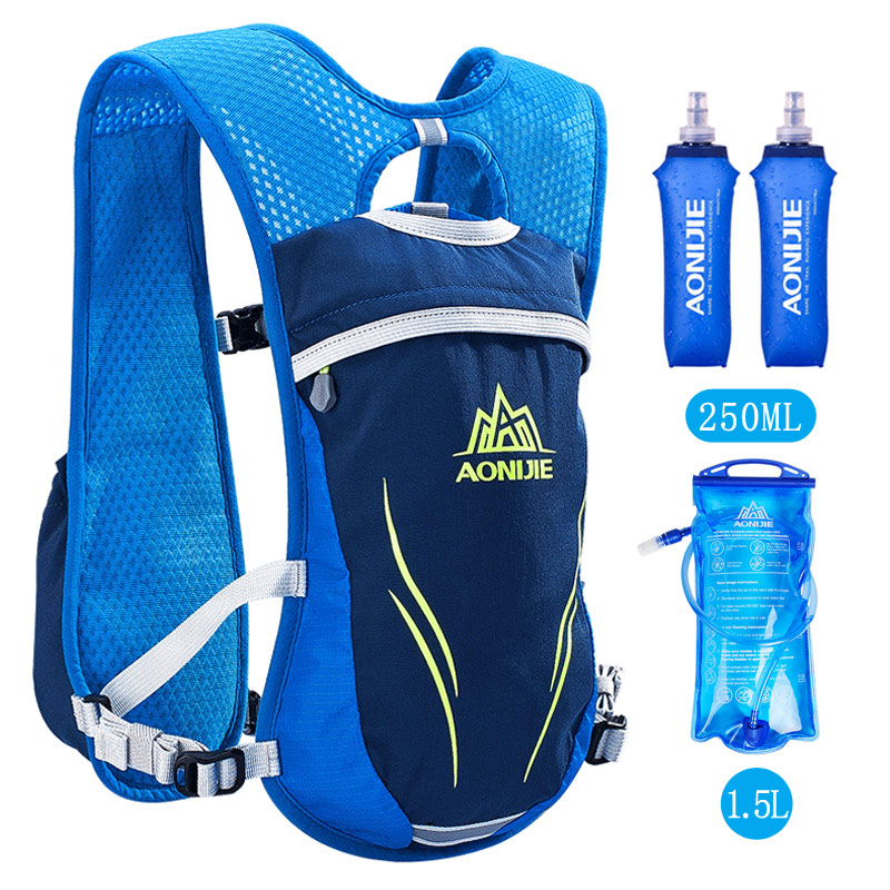 AONIJIE 5.5L Running Marathon Hydration Nylon Outdoor Running Bags Hiking Backpack Vest Marathon Cycling Backpack Rucksacks Pack