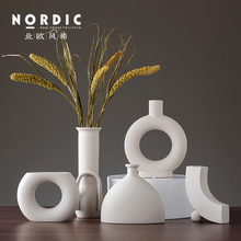 Nordic ceramic creative Modern simplicity small flower vase home decor crafts room decoration objects parlor Dried