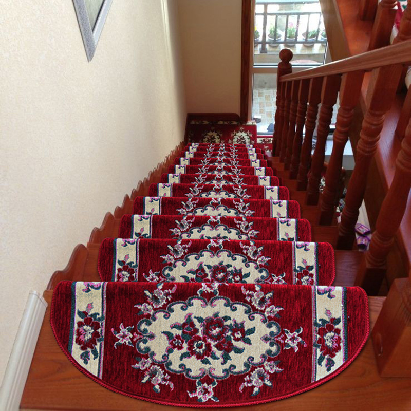 High Quality KEYAMA New European Pastoral Style Acrylic Floral Non Slip Carpet Stair  Treads Mats Home Staircase Steps Rug Decorative Carpets In Carpet From Home  U0026 Garden ...
