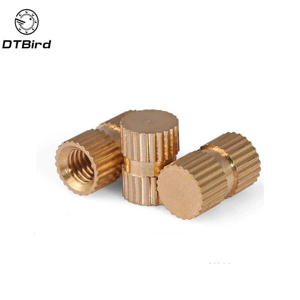 Injection molding machine nut B type single blind copper insert M3 M4 M5 M6 M8 brass embedded copper knurled nut цена
