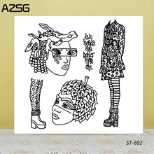 AZSG Strange Ethnic Minority Women Clear Stamps/Seals For DIY Scrapbooking/Card Making/Album Decorative Silicone Stamp Crafts
