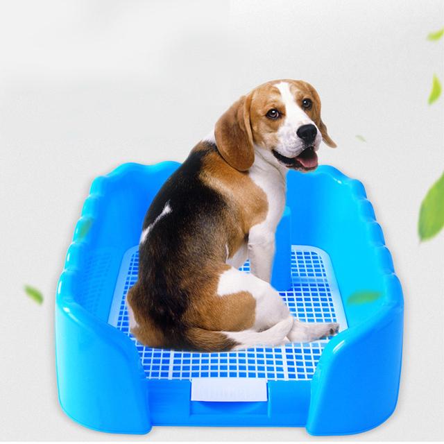 Indoor Dog Puppy Plastic Potty Training Fence Tray Pad Pet Pee Toilet