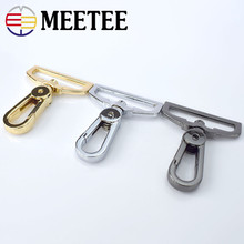 2pcs Meetee Metal Bags Clip Buckles 32mm 38mm Snap Hook Buckle Belt Bag Strap Hanging Dog Hardware Accessories E6-2