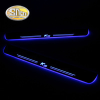 SNCN 4PCS Acrylic Moving LED Welcome Pedal Car Scuff Plate Pedal Door Sill Pathway Light For Kia K3 2015 2016 2017 2018
