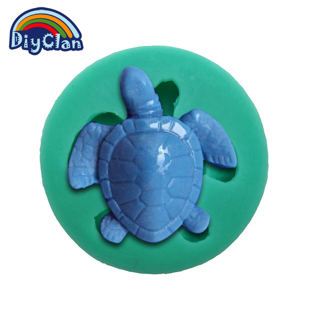 New arrival tortoise DIY silicone fondant cake molds chocolate mold soap mould cake tools resin moulds kitchen baking F0029WG35