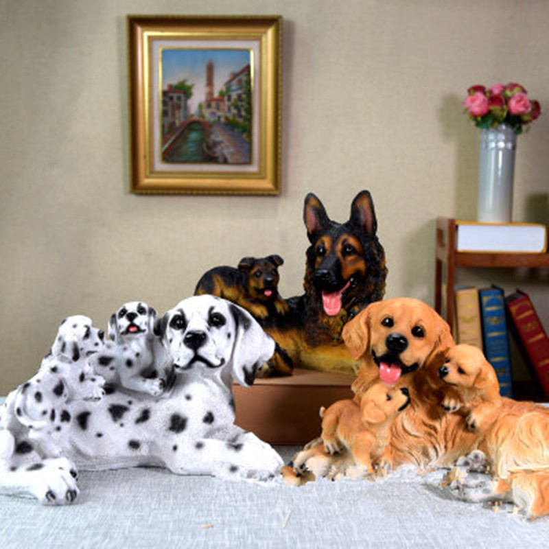 Simulation World Famous Dog Colophony Crafts German Shepherd Dog Golden Retriever Dalmatian Home Furnishing Articles G924 331 kinds of world famous dog domestication and appreciation book novice domesticated dog books