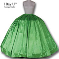160M Satin Underskirt For Wedding Dress Crinolinas Para Boda Petticoat Crinolines Wedding Dress Petticoat Rockabilly 6 Hoops