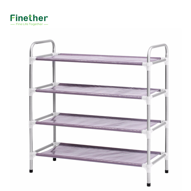 Brand New Stackable Adjustable 4 Tier Shoe Rack Shoe Tower Shelving Storage  Organizer For Entryway