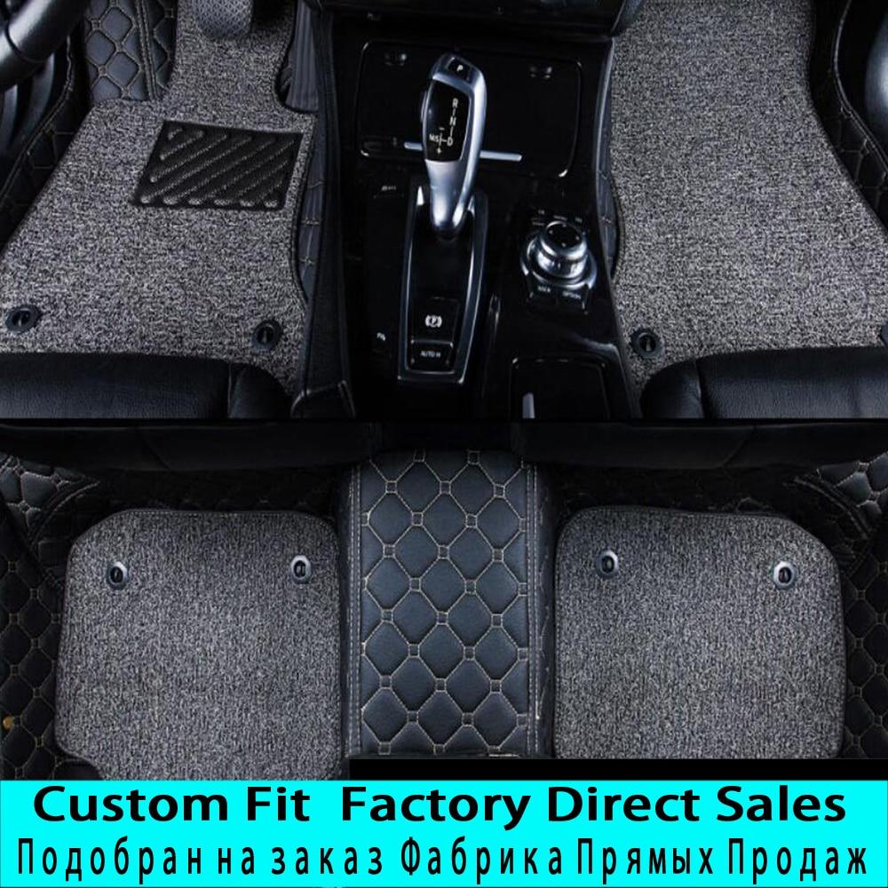 SUNNYFOX Car floor mats Case for Peugeot 206 207 308sw 3008 4008 508 rcz 5D Waterproof car-styling leather Anti-slip carpet lineSUNNYFOX Car floor mats Case for Peugeot 206 207 308sw 3008 4008 508 rcz 5D Waterproof car-styling leather Anti-slip carpet line
